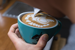 Australian latte art champion Shinsaku Fukayama of St Ali