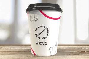 Ona Coffee #giveupthecup single-use cups
