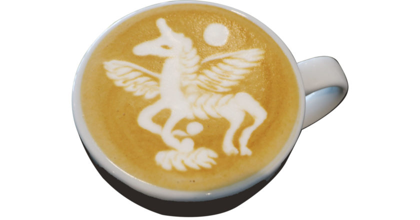 unicorn latte art jibbi little