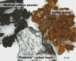 charcoal remove bitterness coffee