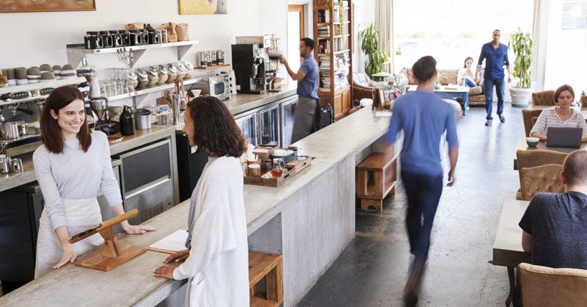 Cleaning sanitising coffee bar