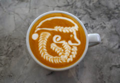 santa claus latte art