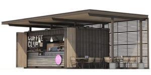 shipping container café