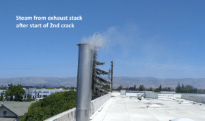 steam following 2nd crack vortx ecofilter